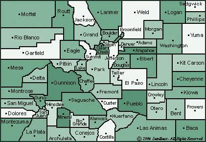 colorado map with county lines counties colorado counties inc cci