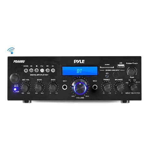 pyle bluetooth stereo amplifier receiver compact home