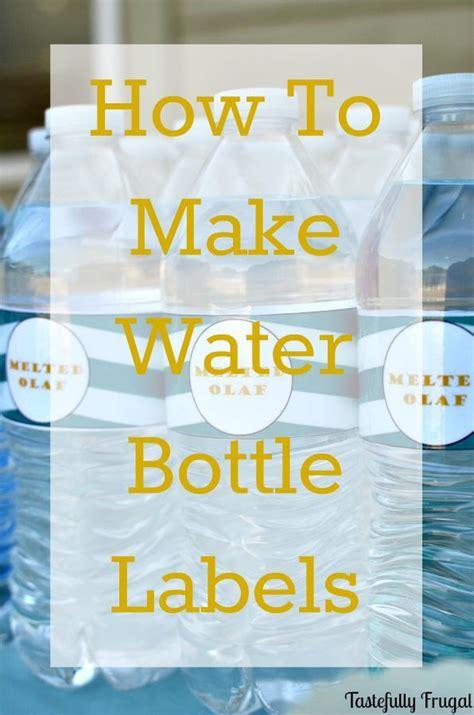 water bottle labels diy ideas custom water