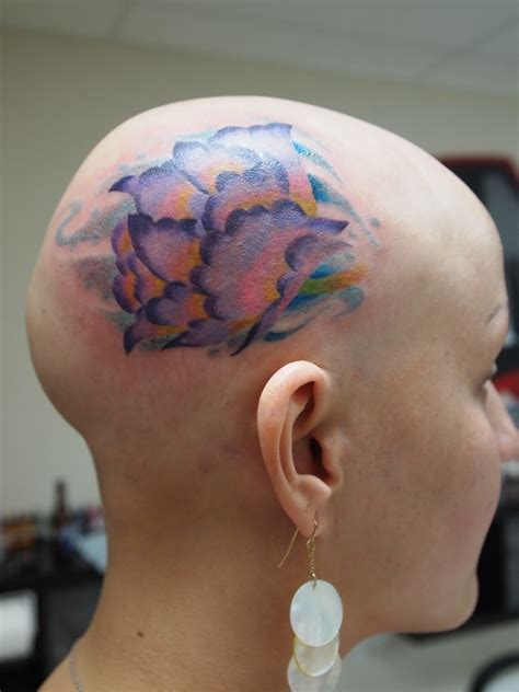 flower head tattoo design  women sheclickcom
