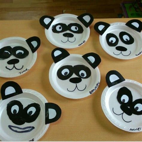 Panda Paper Plate Craft - the gallery for gt community helpers worksheet