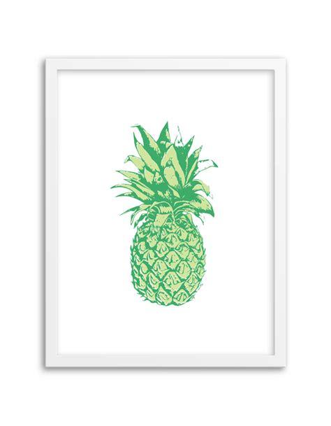 green printable wall art free printable pineapple wall art