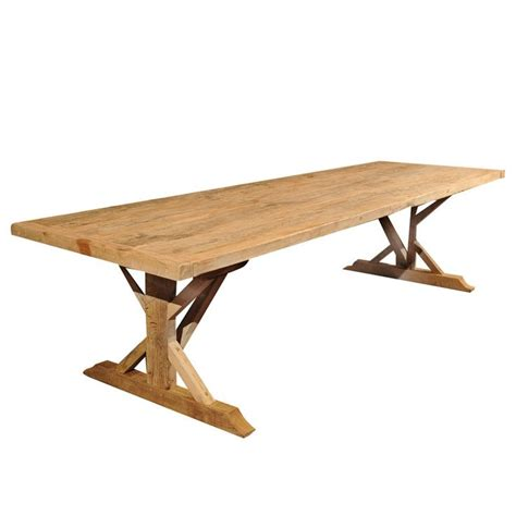 Large Trestle Dining Table Large Oak Trestle Table For Sale Antiques