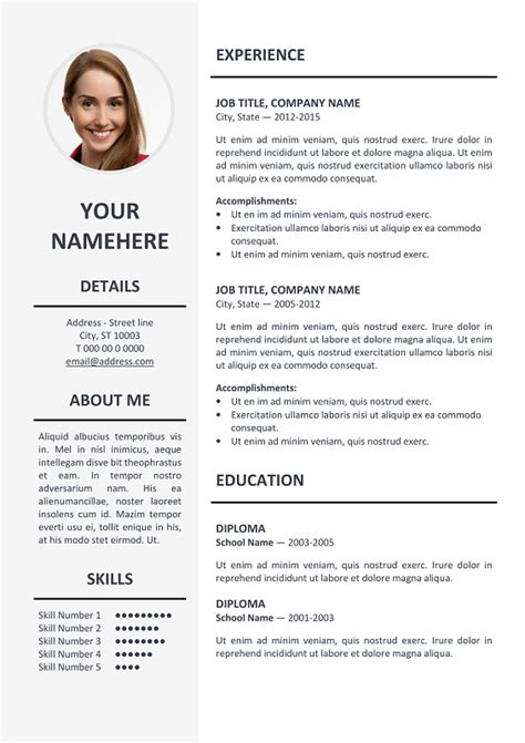 ms word resume template ikebukuro elegant resume template