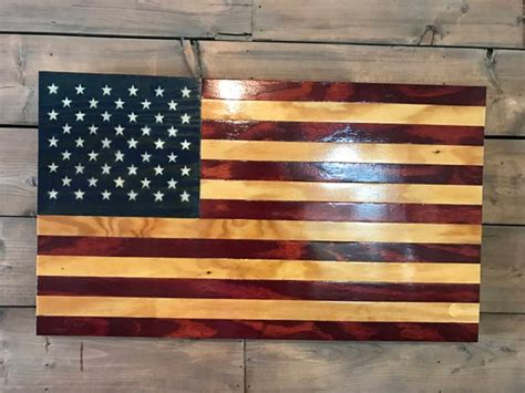 rustic american american flag military veteran  wood