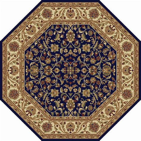 octagon rugs 7 8x8 octagon sensation blue leaves vines 4817 area rug approx 7 10 x 7 10 quot ebay
