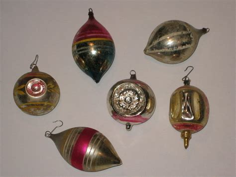 christmas ornaments glass antique west germany vintage