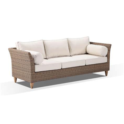 Carolina Sofa by Carolina Outdoor 3 Seat Wicker Sofa Lounge In Wheat Buy