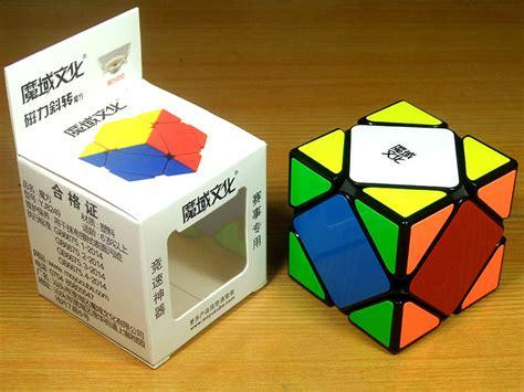 Diskon Rubik Skewb Moyu Magnetic Skewb Speed Cube Black moyu magnetic skewb black white stickerless puzzle shop cutcorner