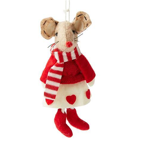 felt christmas mouse ornament christmas ornaments