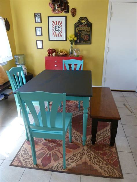diy chalkboard kitchen table best 20 painted kitchen tables ideas on