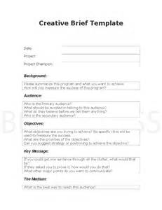 creative brief template creative brief target audience and secondary audience