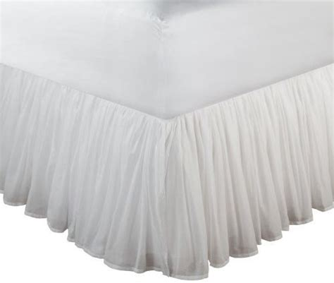 full bed skirt full size white bed skirt drop easy fit cotton wrap around