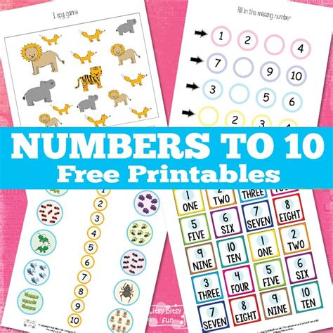 fun printable numbers 1 10 learning numbers 1 to 10 itsy bitsy fun