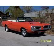 Orange 1970 Coronet  With White Convertible Top