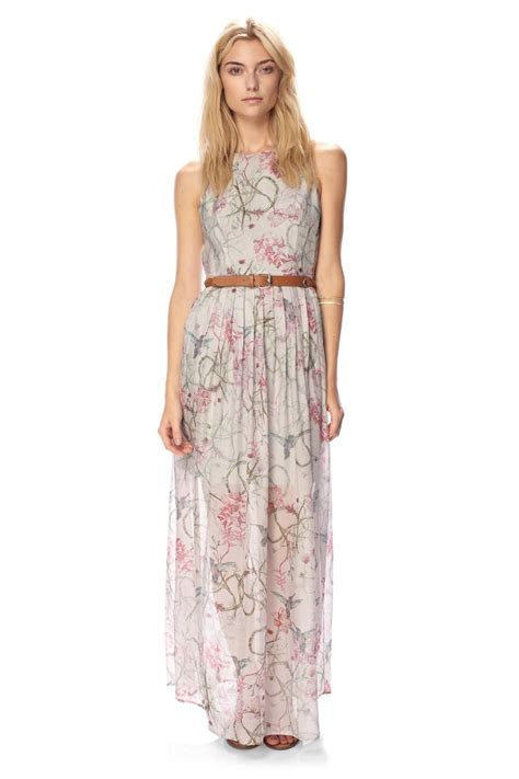 Lv New Maxi connection of zola silk maxi dress garden