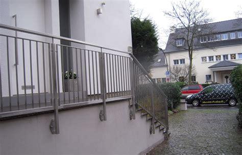 außengeländer treppe edelstahl treppengel 228 nder edelstahl fr 214 bel metallbau