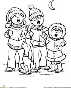 christmas carols coloring pages 1000 images about christmas on pinterest orff