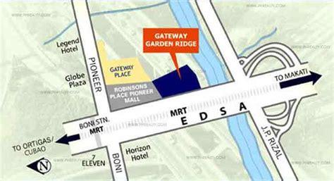 Garden Ridge Locations by Location Of Robinsons Gateway Garden Ridge Condo For Sale In Edsa Mandaluyong City Real Estate