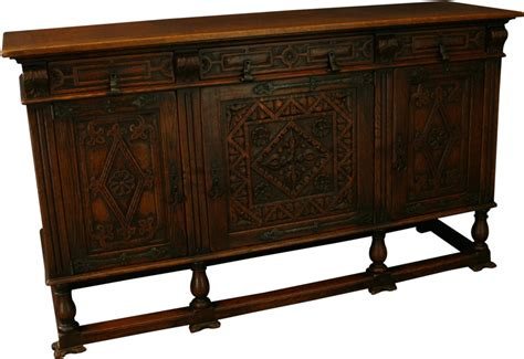 Iron Sideboard vintage carved oak mission sideboard wrought iron style hardware ebay