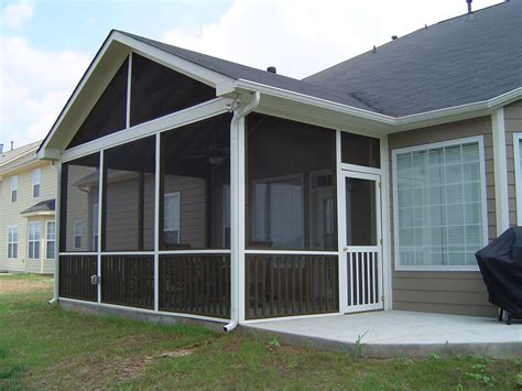 matthews nc screen porch builder slab foundation
