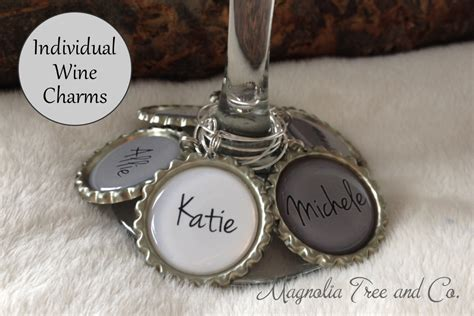 one wine charm personalized wine charms bachelorette