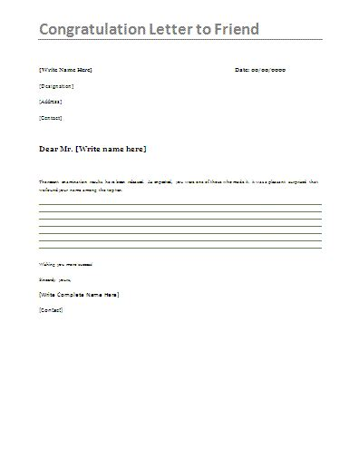 Polaris Office 5 Resume Templates by Congratulations Letter To Friend This Is A