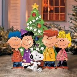 Snoopy Christmas Decorations For Outdoors Outdoor Metal Christmas Peanuts Charlie Brown Friends Yard