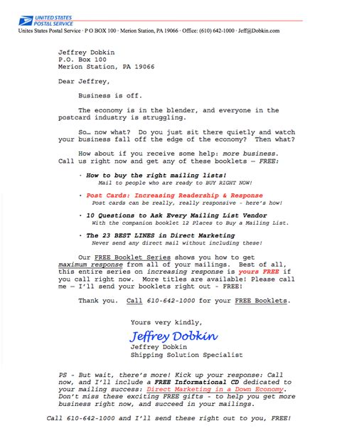 insurance sales letters sample letter jeffrey dobkin