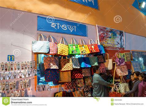 Handcraft Store - work indian handicrafts fair at kolkata editorial