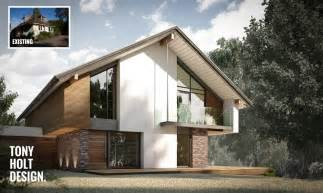 Modern Bungalow House Plans design concept for remodel of chalet bungalow in kent