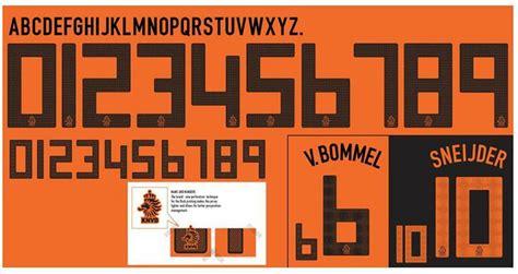 Custom Font Nameset Italy 2018 netherlands national team number fonts forum dafont