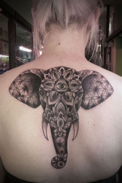 mandala dotwork elephant i tattoos
