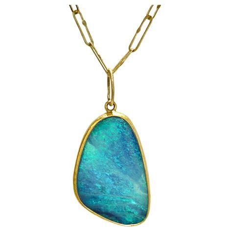 class handmade link chain australian opal doublet