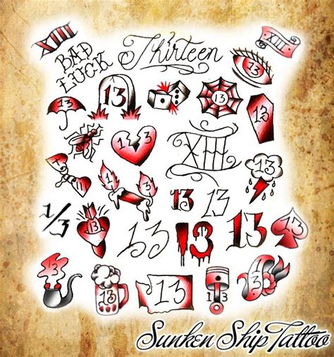 traditional tattoo numbers 32 best 13 tattoo images on pinterest 13 tattoos