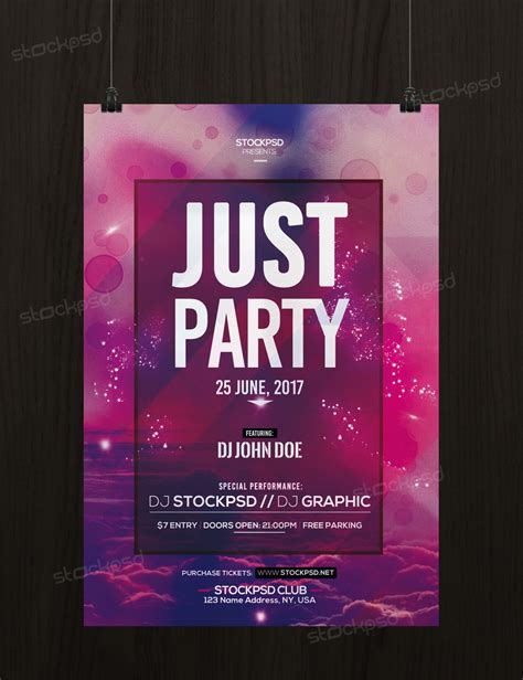 free just party psd template flyer flyershitter com