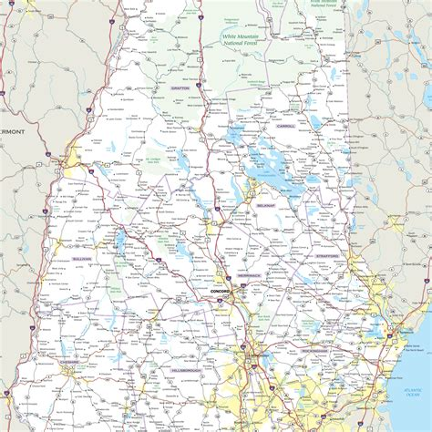 wall map of us highways new hshire highway wall map maps