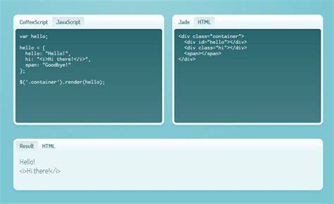 jquery template engine tools and resources for web designers and developers idevie