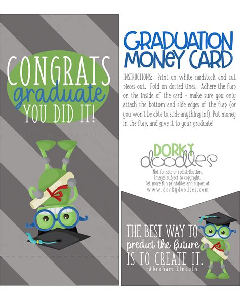 graduation money card template free graduation cards to print chatterzoom