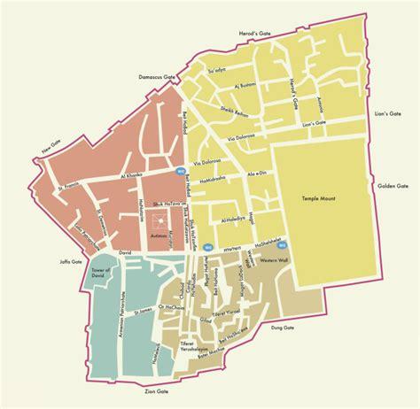 city jerusalem map jerusalem city map the best map of the city for free