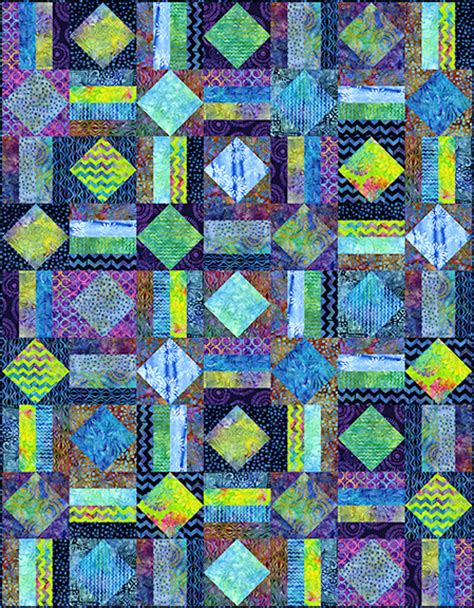Batik Quilt by Diamonds At Sea Batik Quilt