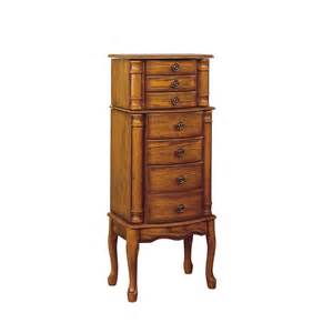 standing jewelry armoire target shop powell woodland oak floorstanding jewelry armoire at