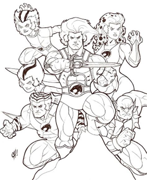 thundercats coloring pages ben ten cartoon