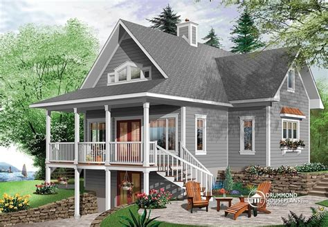 home design house v1 5 beautiful lake cottage design 2939 v1 by drummond house