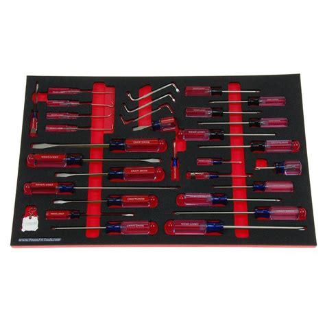 craftsman screwdriver kit   tools   foam