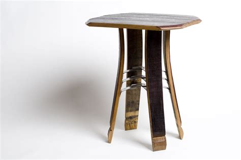 Barrel Side Table Wine Barrel Side Table By Wes Walsworth Wood Steel Side Table Artful Home