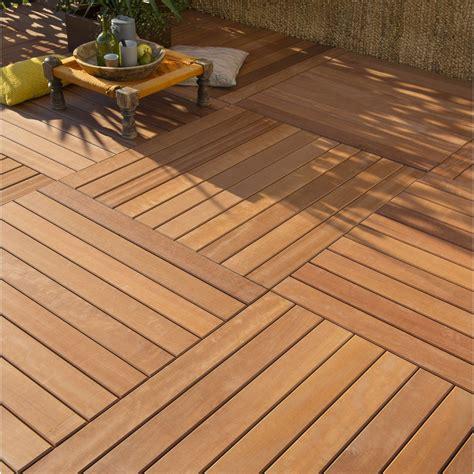 terrasse 80 x 40 dalle bois akola l 100 x l 100 cm x ep 44 mm leroy merlin