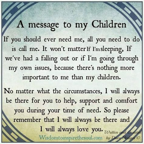 messages for children a message to my children messages