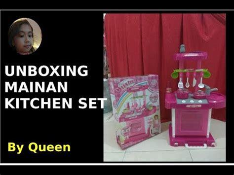 Chef Kitchen Set Koper Pink mainan masak masakan anak anak mainan toys