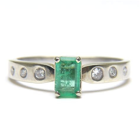 Emerald Cut by Emerald Cut Emerald Ring From Maryanntiques On